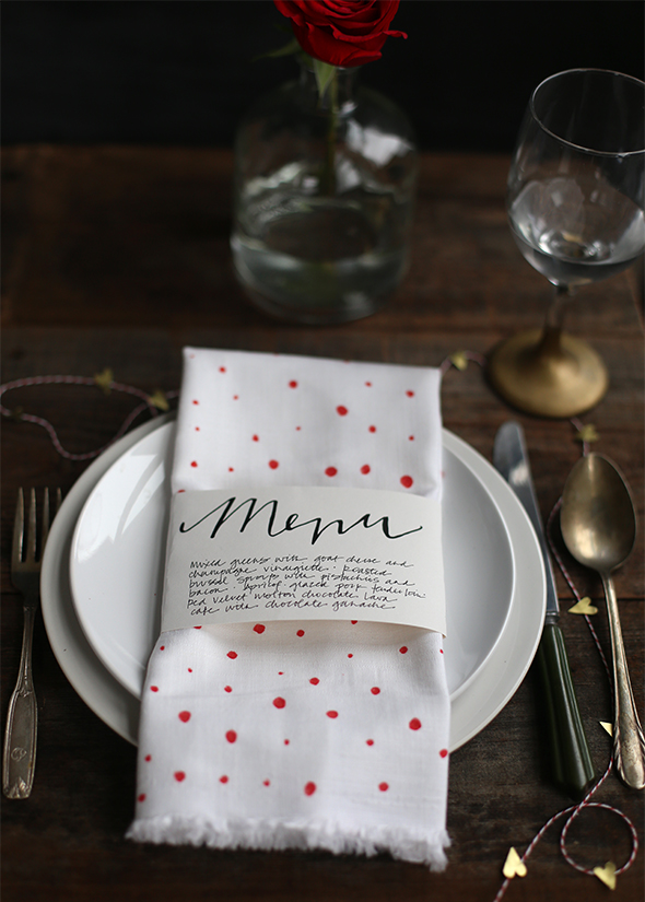 Valentine's Day menu Napkin Holder