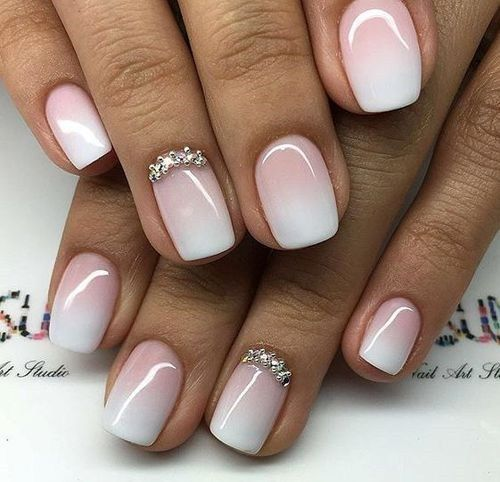 White and Pink Ombre Gel Nail Polish – Cute DIY Projects