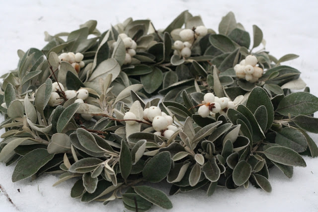 Winter: White January Wreath