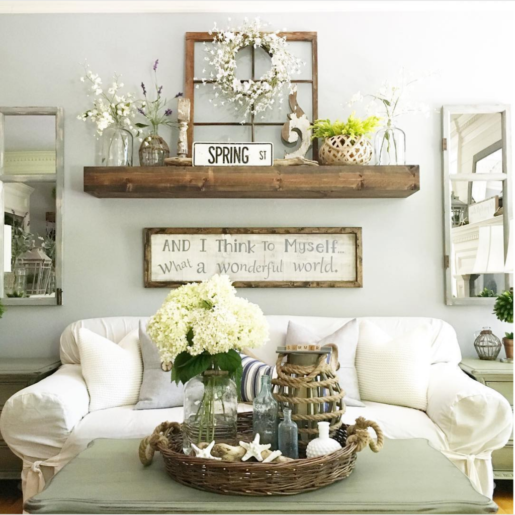 25 must try rustic wall decor ideas featuring the most for Wall accessories for living room