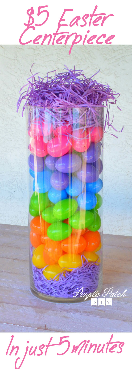 Easter DIY Centerpiece with Colorful Eggs