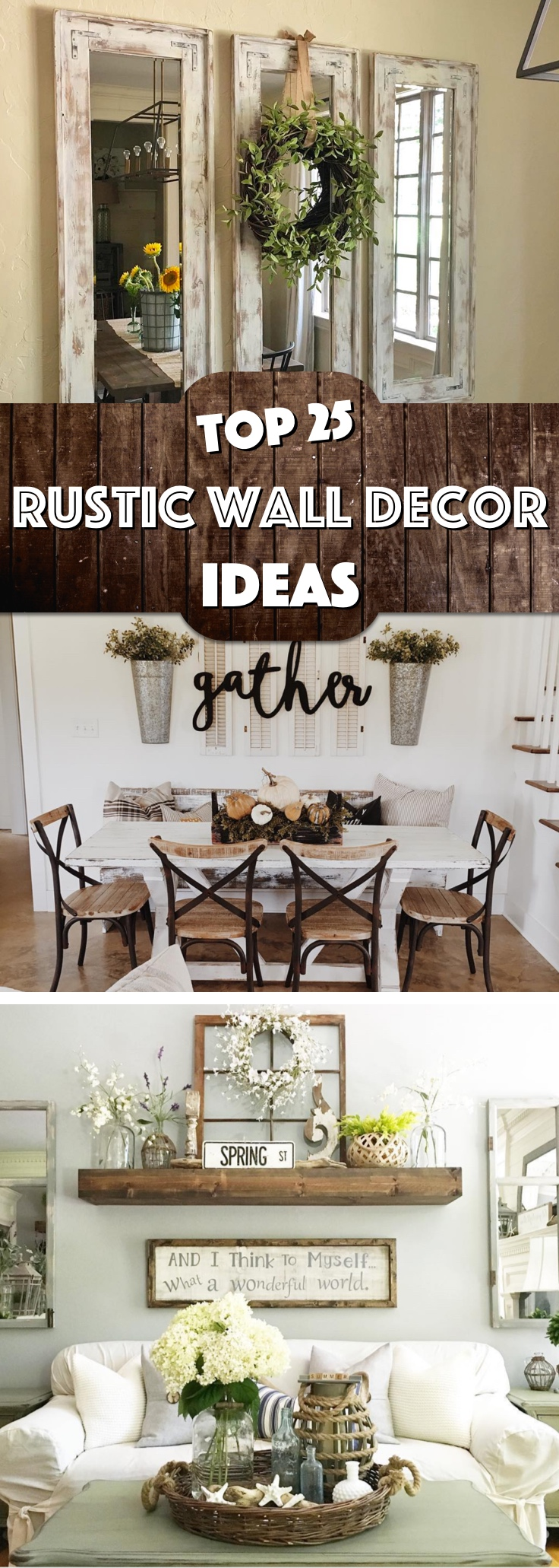 Rustic Photo Wall Decor : Must try rustic wall decor ideas featuring the most