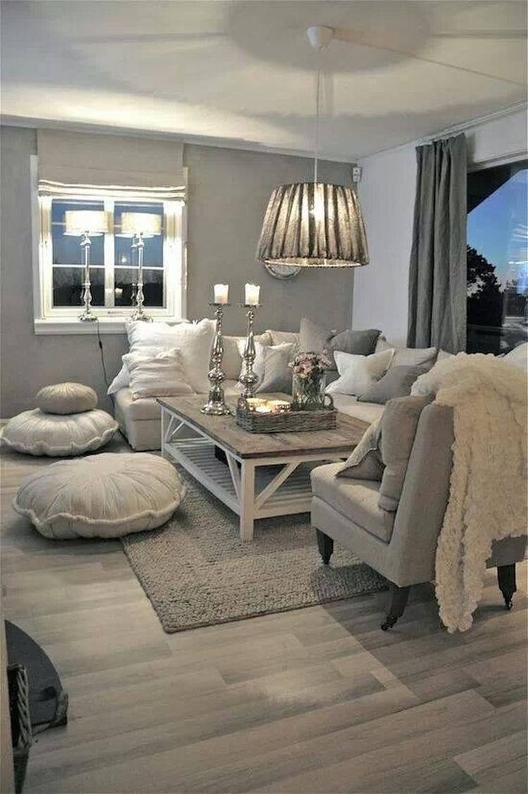 Rustic White and Grey Decor. 20 Gorgeous Rustic Living Room Ideas That Will Melt Your Heart With