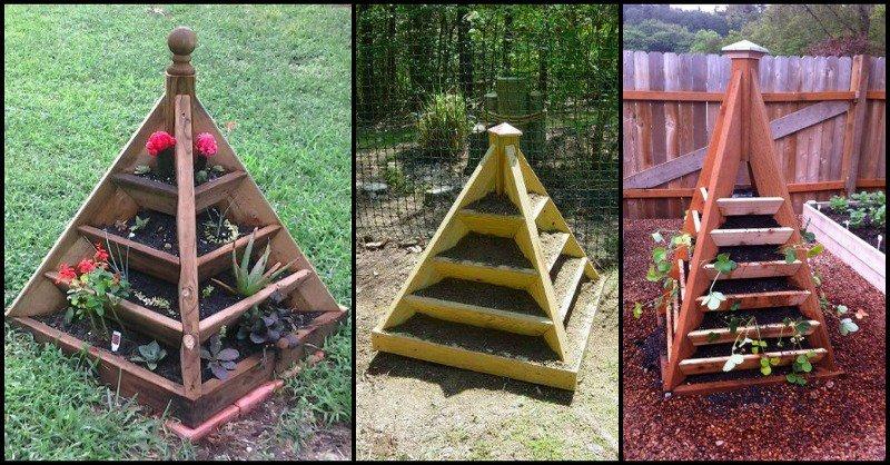 A Strawberry Pyramid Planter