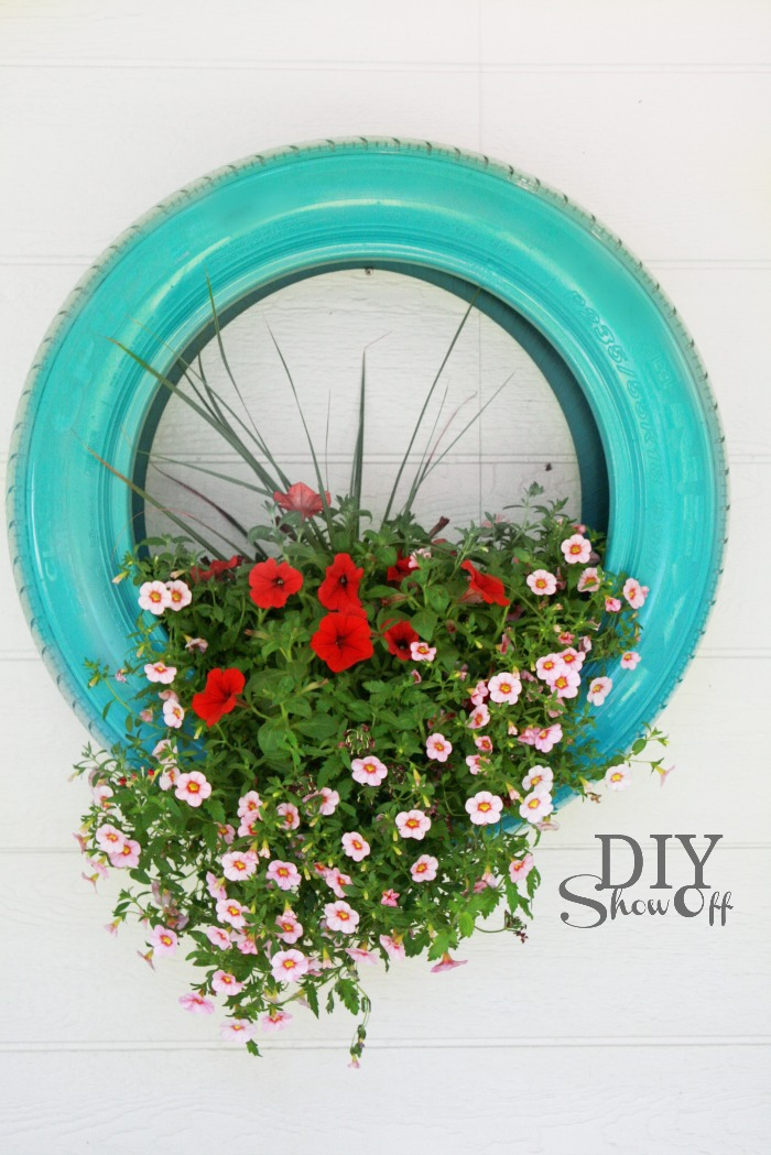 Antique DIY Tire Planter
