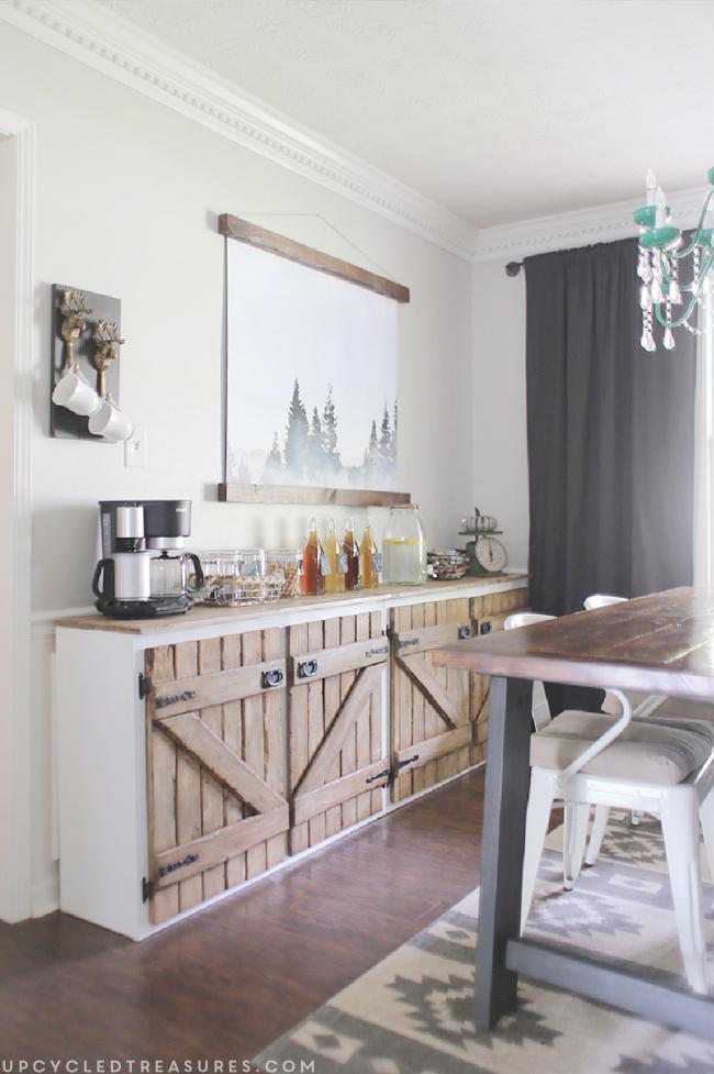 Barnwood Style Sideboard