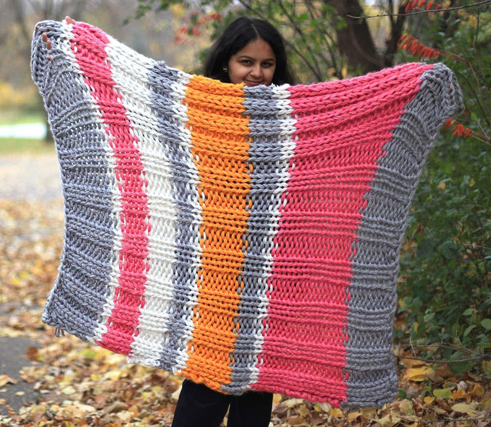 Bulky Knit Blanket