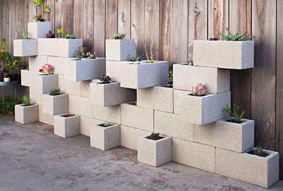 Concrete Cinder Blocks for Plants