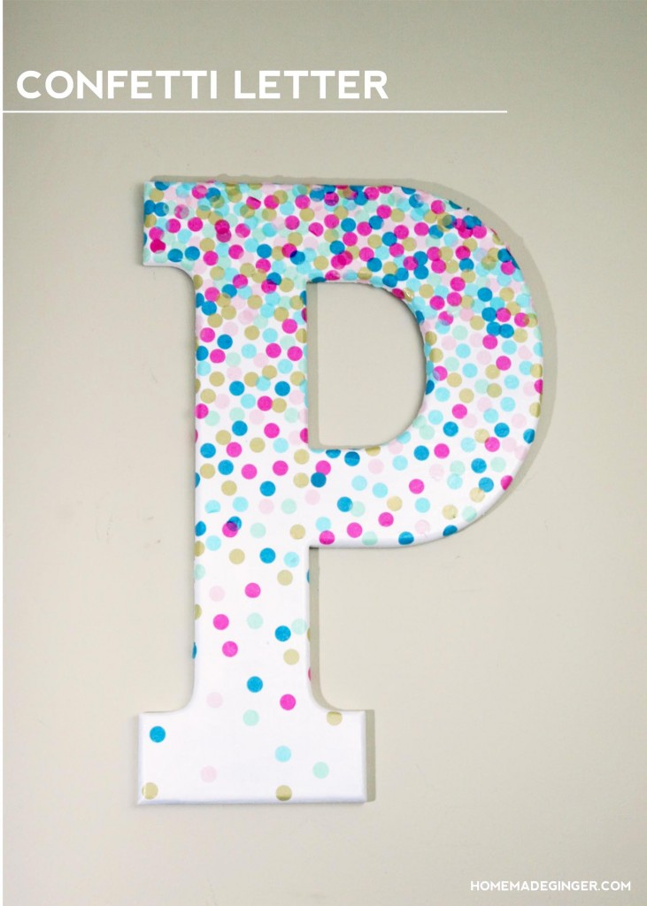 Confetti Decorative Letters