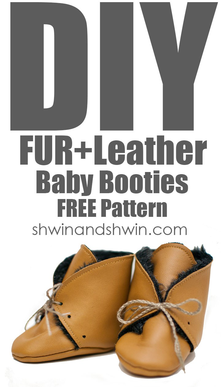 Cosy Fur & Leather Baby Booties