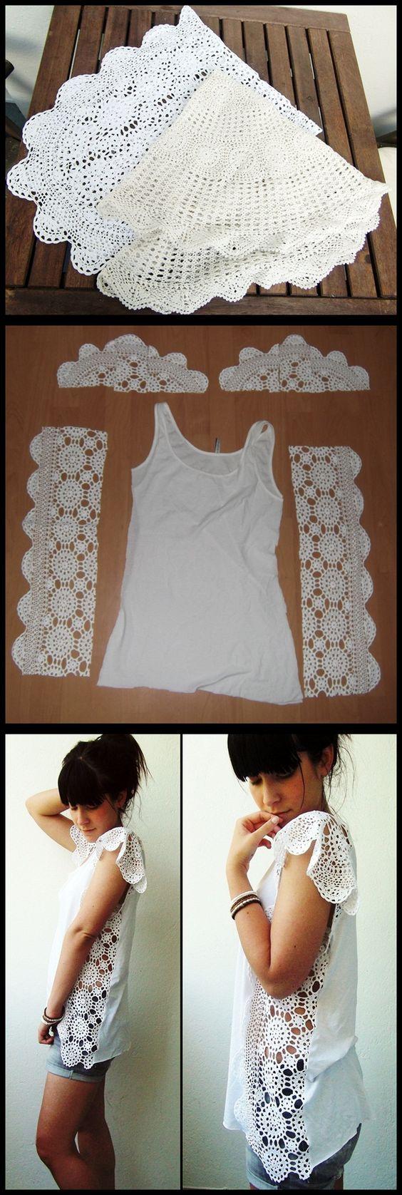 Csipkemintás trikó - 10 tipp a régi ruhák újrahasznosításához- 1. rész