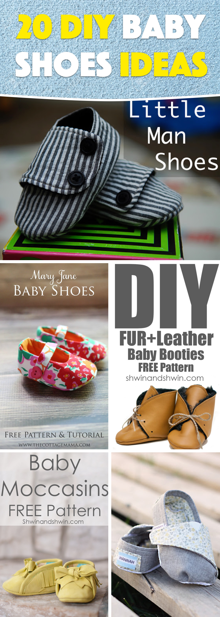 7e294e8185fbb 20 DIY Baby Shoes Ideas With Free Patterns and Instructions