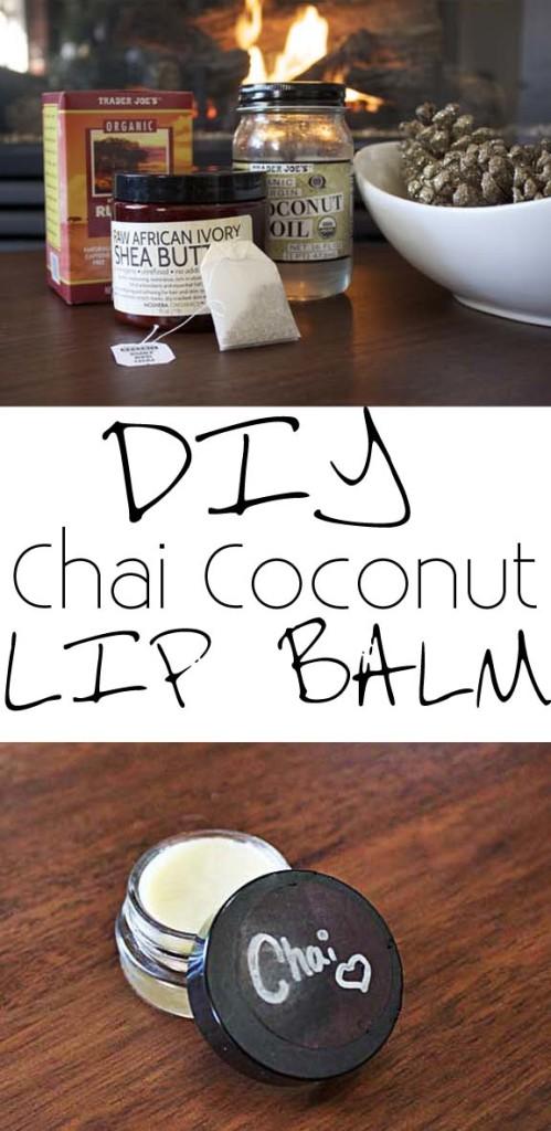DIY Chai Coconut Lip Balm