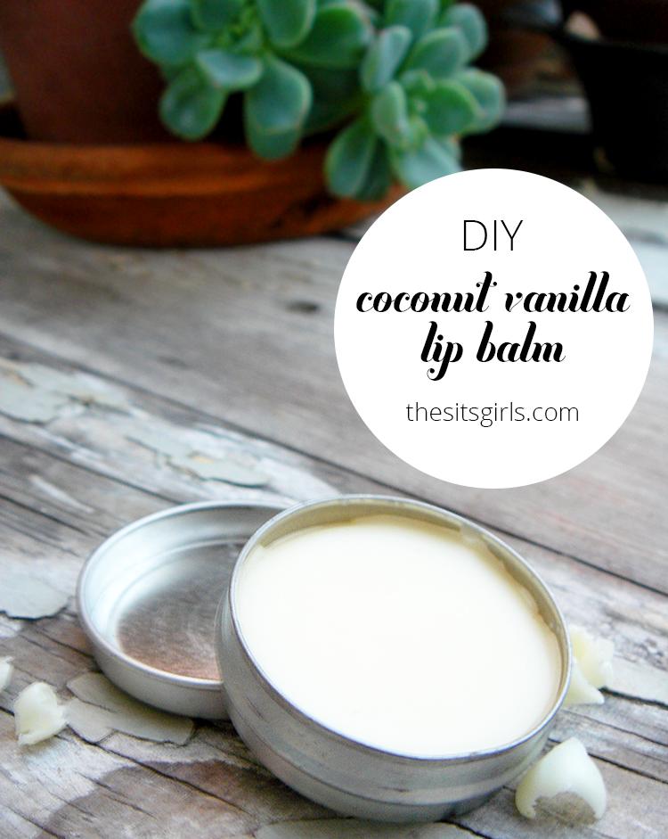 DIY Coconut Vanilla Lip Balm