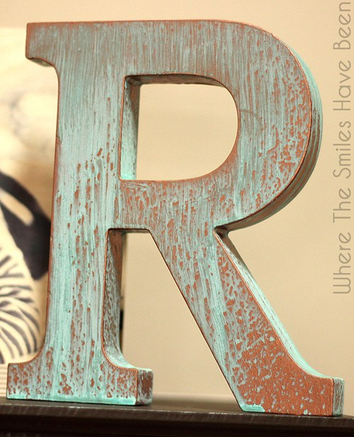 DIY Faux Copper Letter