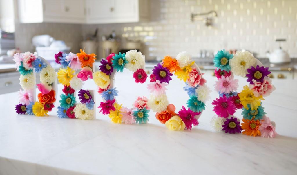 Flower Letter Decor Diy Flowers Healthy