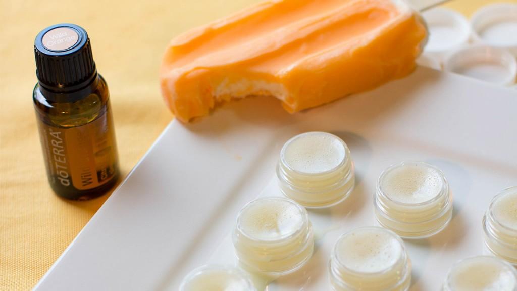 DIY: Orange Creamsicle Lip Balm