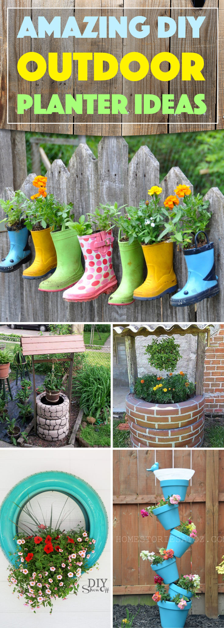 DIY Outdoor Planter Ideas