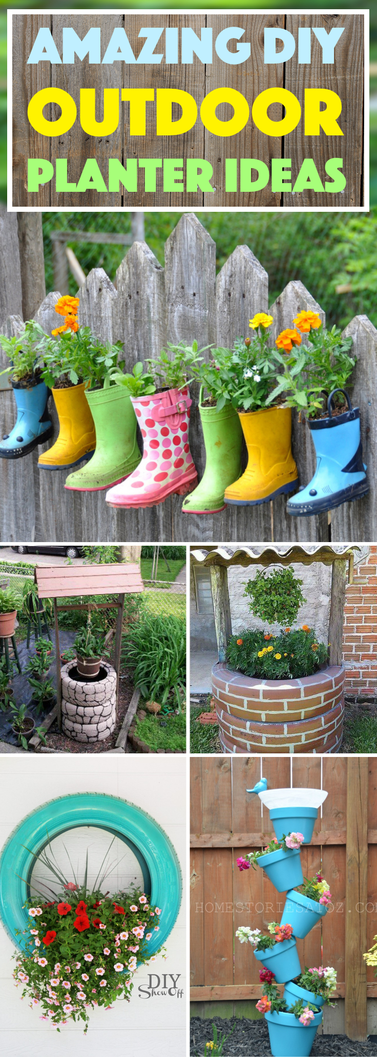 20 amazing diy outdoor planter ideas to make your garden for Garden planter ideas