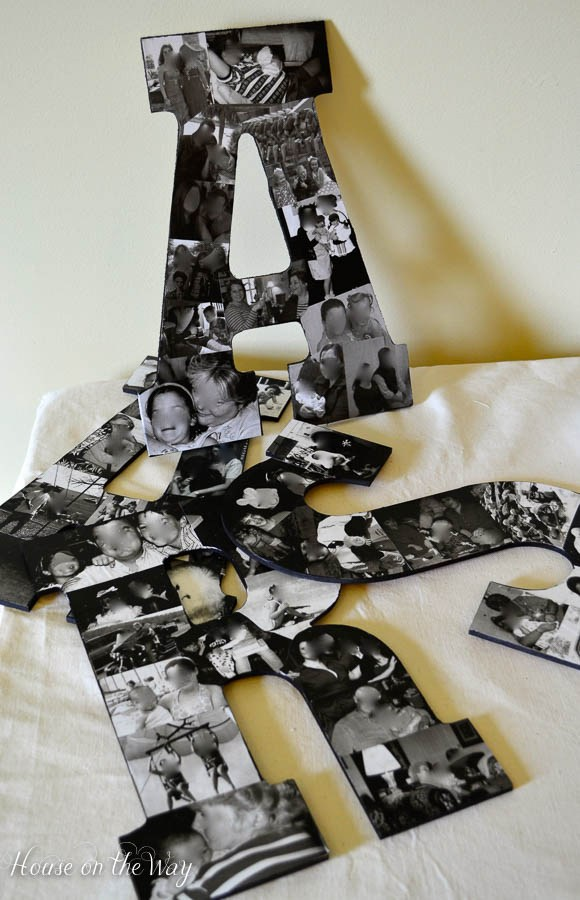 DIY Photo Collage Letters