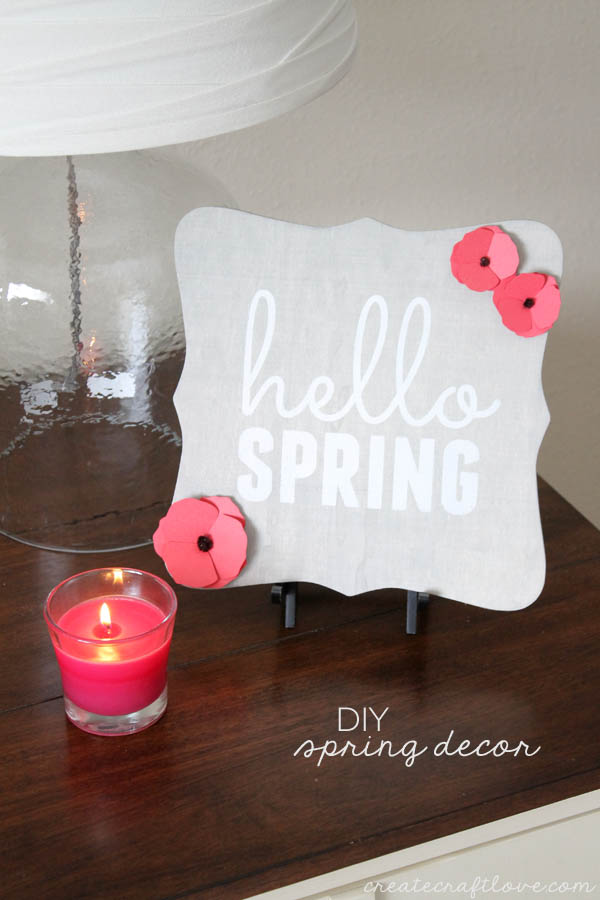 DIY Spring Sign Decor