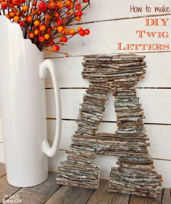 DIY Twig Letters