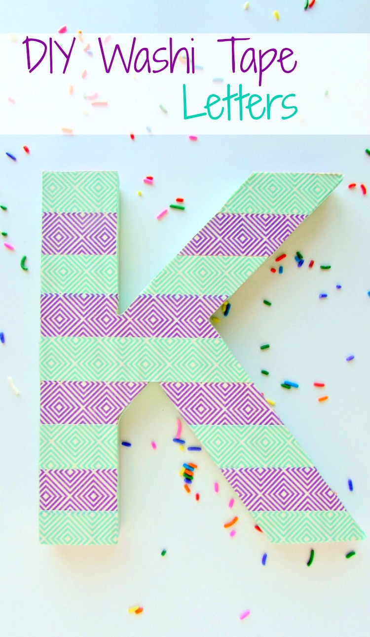DIY Washi Tape Letters