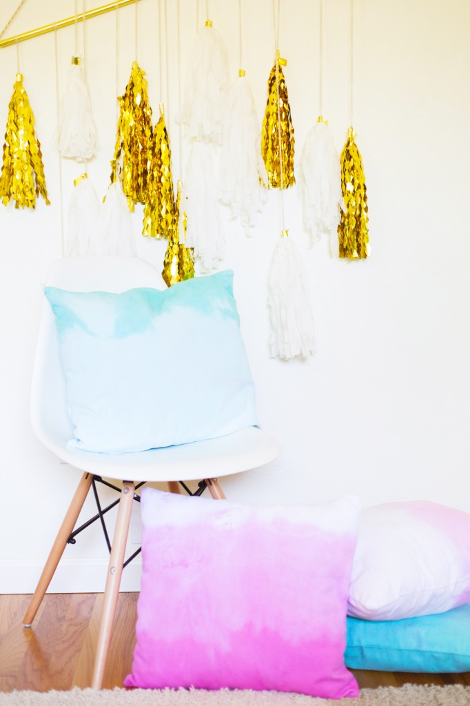 Dip Dye Throw Pillows