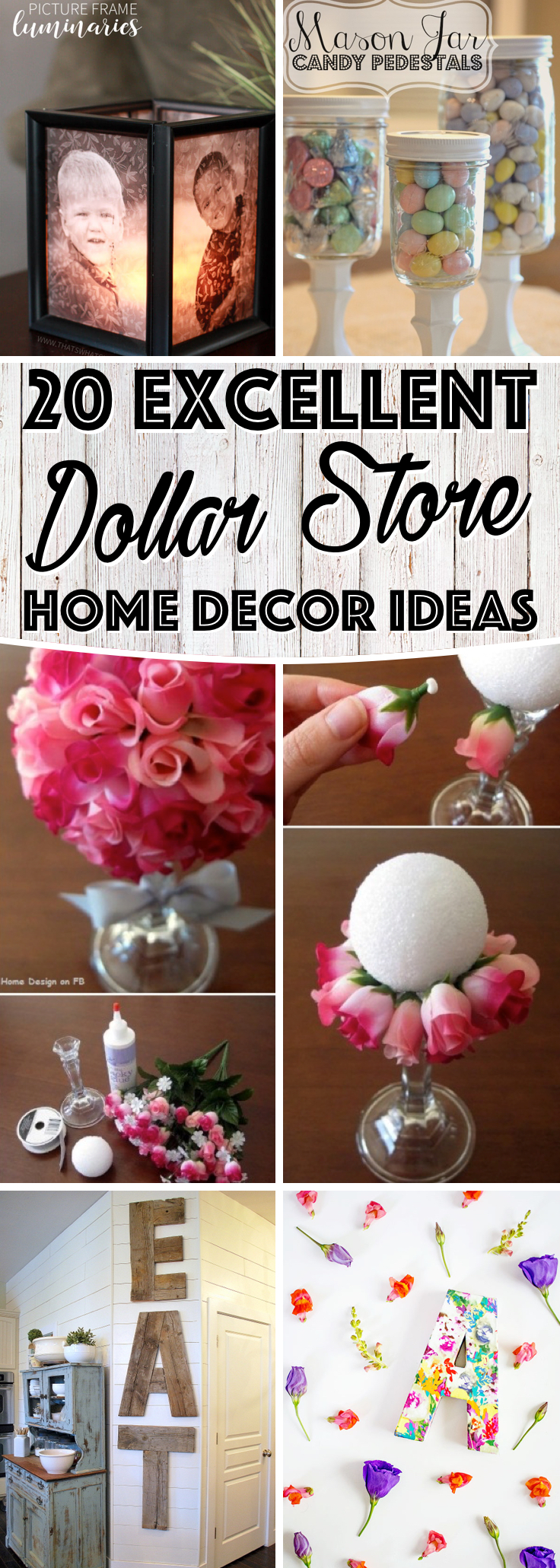 20 excellent dollar store home decor ideas Decorating items shop near me