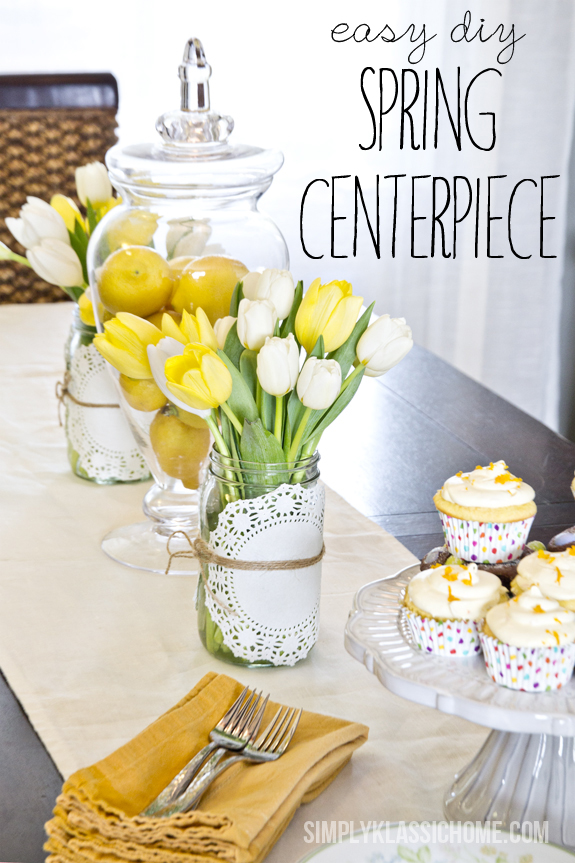 Easy Spring Centerpiece