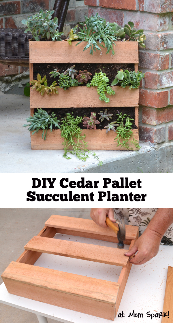 Fabulous Cedar Pallet Planter