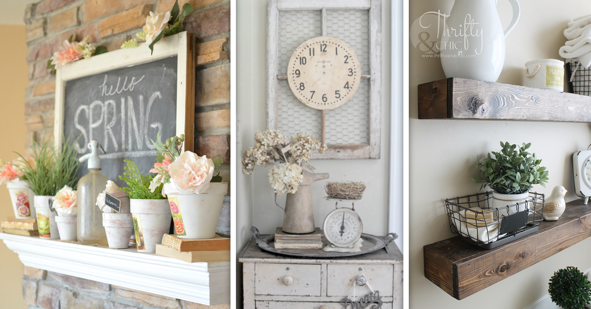 19 awe inspiring farmhouse decor ideas to transform your for Household decorative items