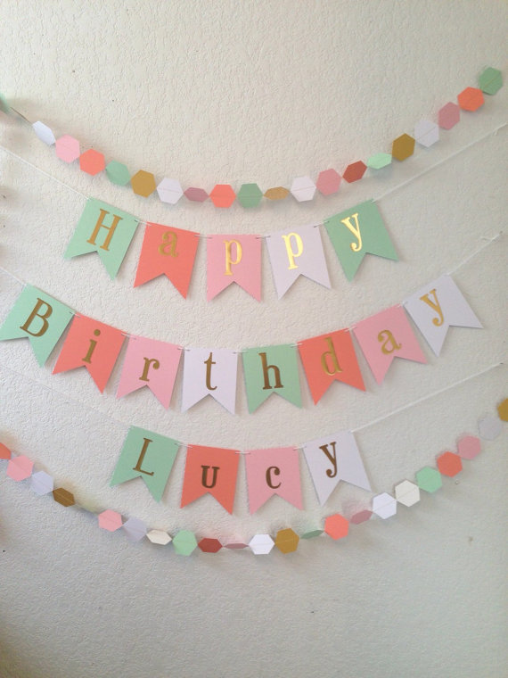 Gold Foil Birthday Banner