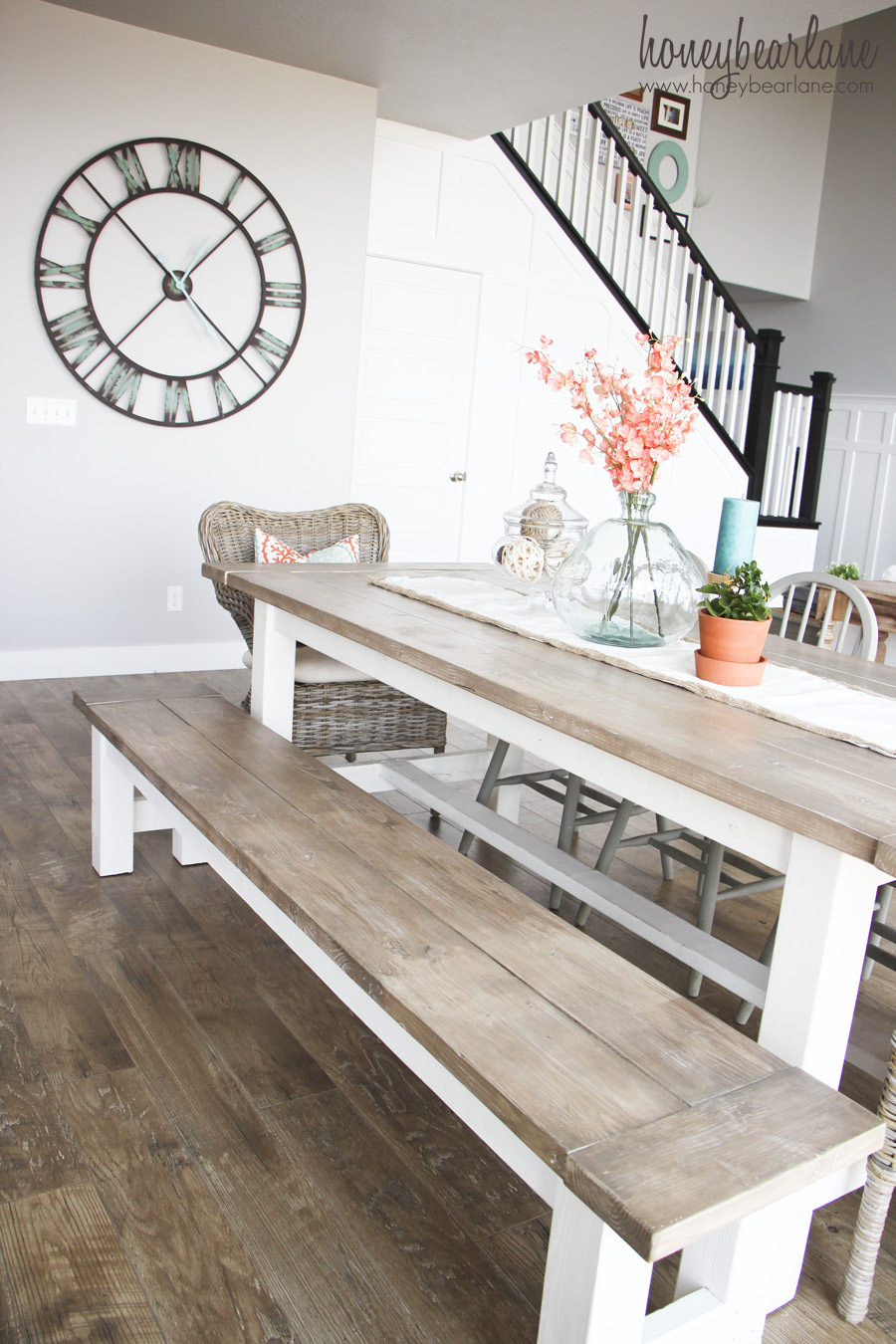 Gorgeous Farmhouse Table and Bench