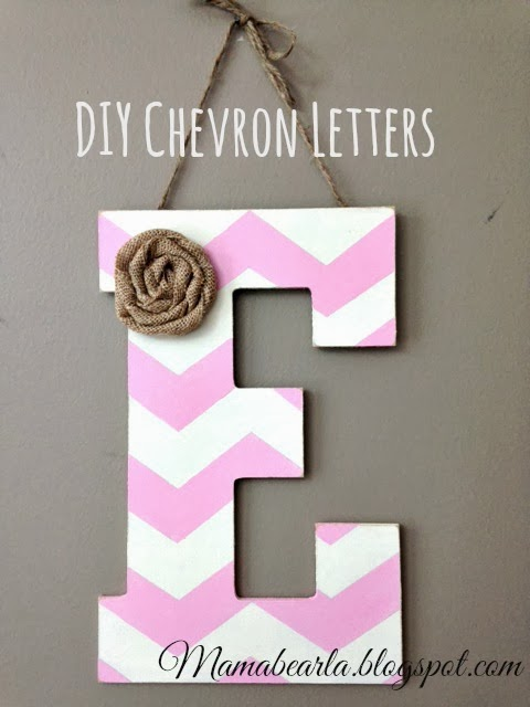 How to Make Chevron Letters