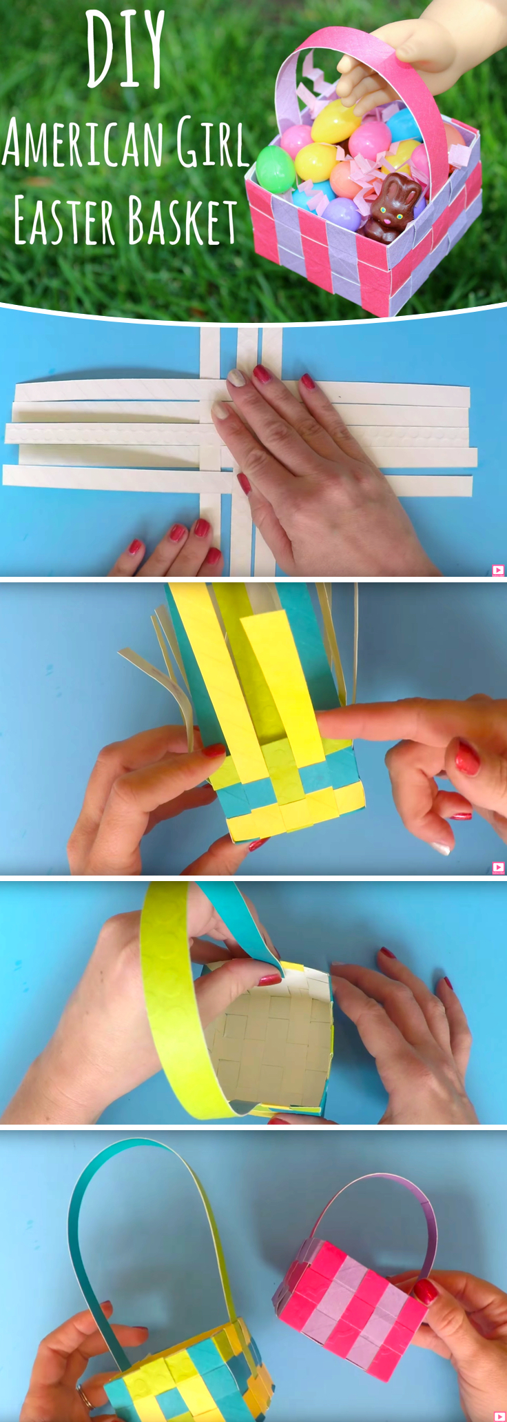 How to Make DIY Doll Easter Baskets