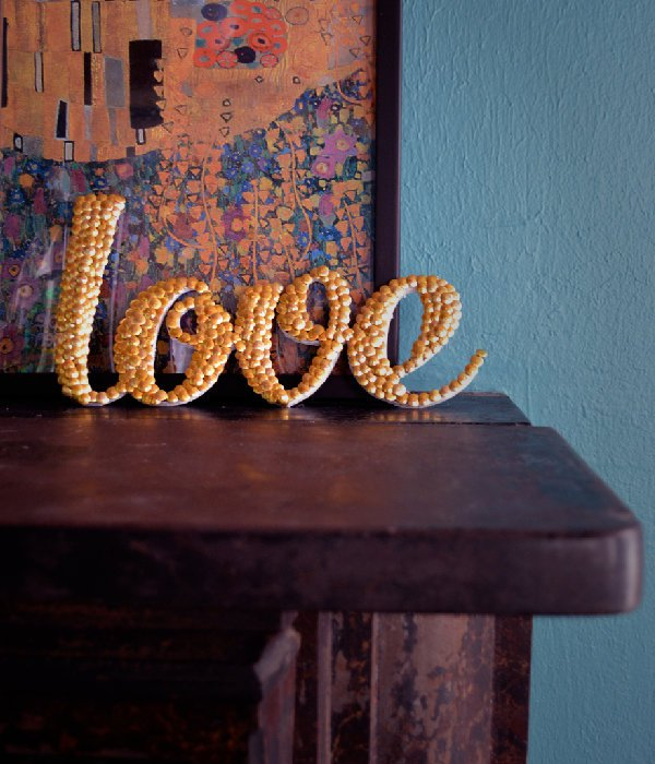 Letter Art with Thumb Tacks