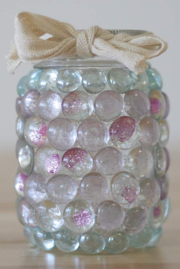 Mason Jar Prism Candle Light