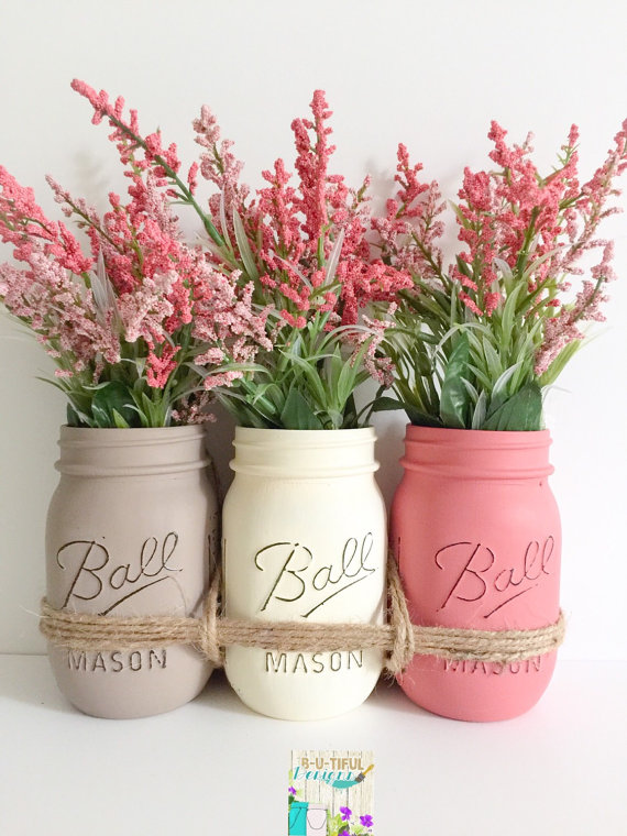 Mason Jars Centerpiece