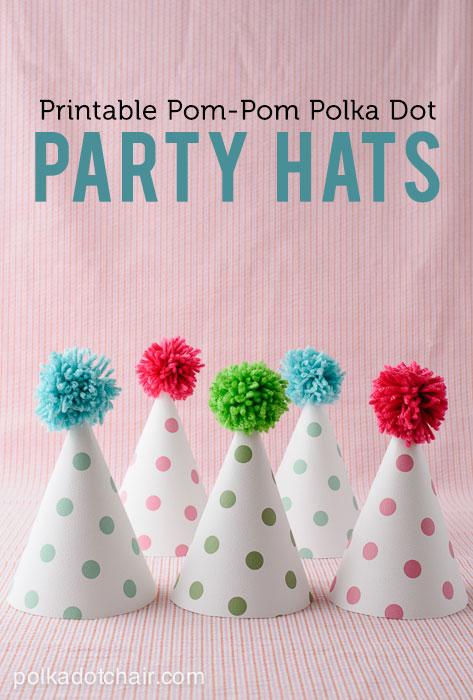 Polka Dot Party Hats