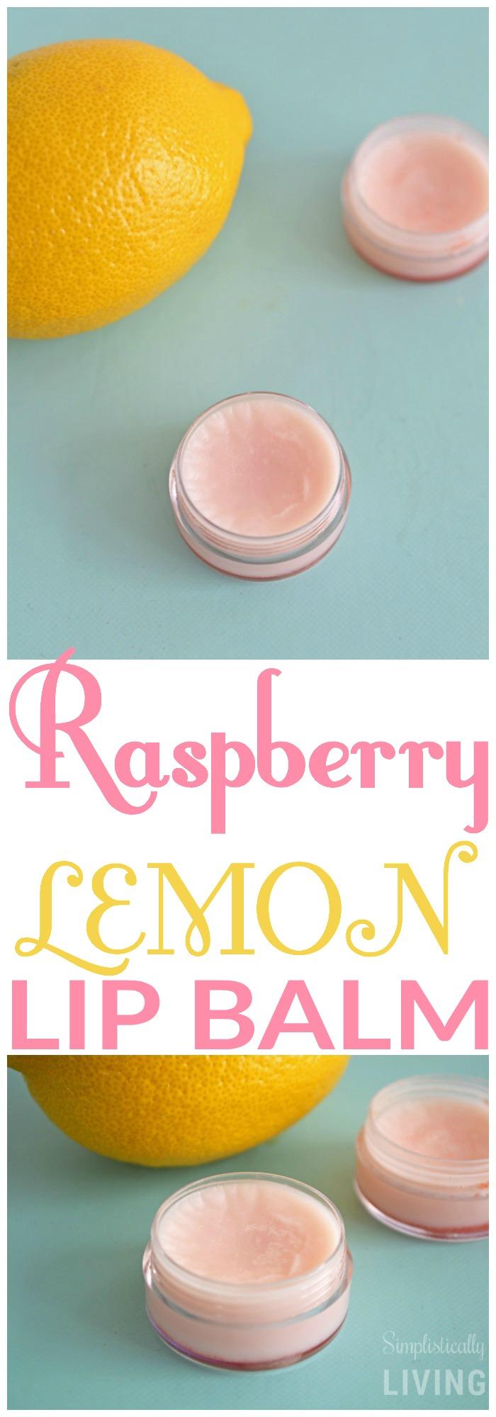 Raspberry lemon lip balm