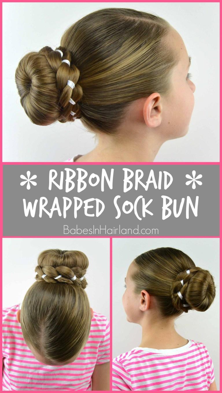 Ribbon Braid Wrapped Sock Bun