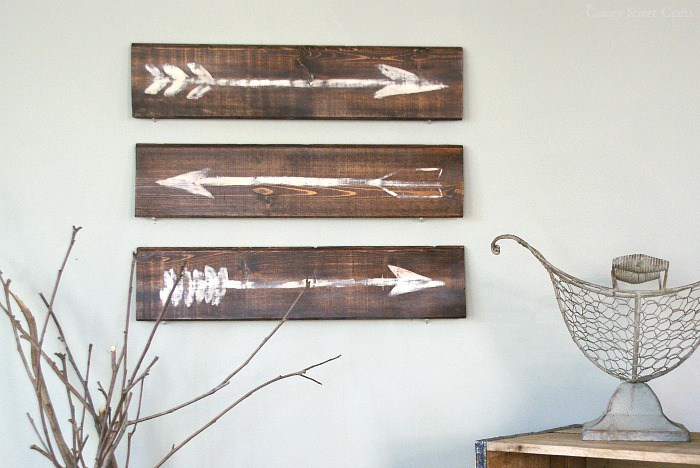 Rustic Painted Arrows