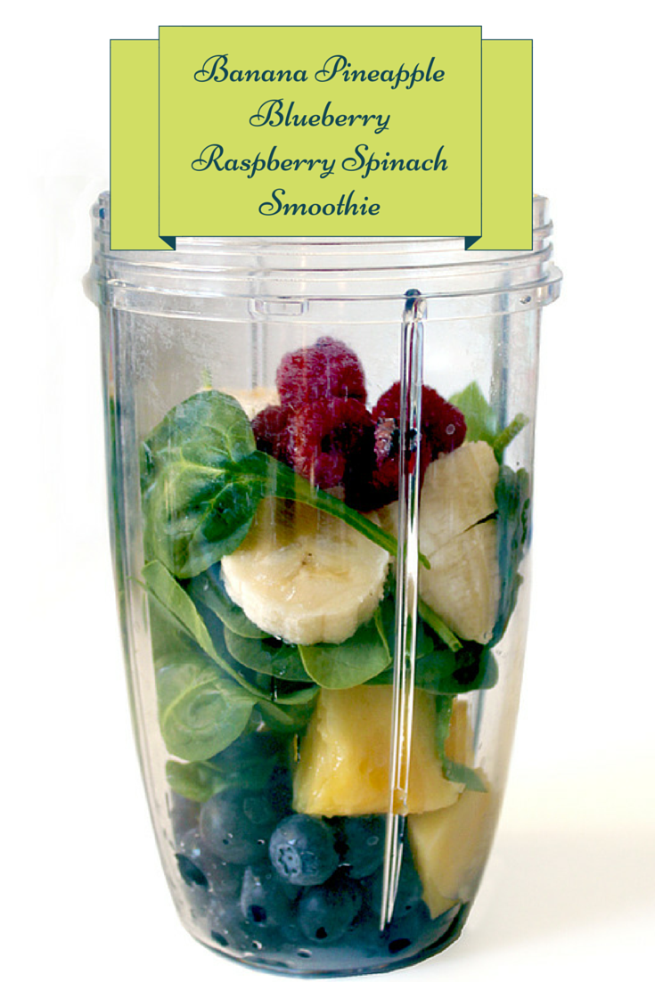 Spinach, Berry and Fruit Smoothie