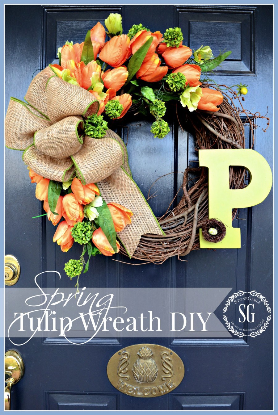Spring Tulip Wreath DIY