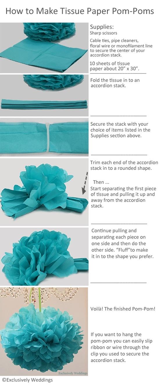 Tissue Paper Pom-Poms
