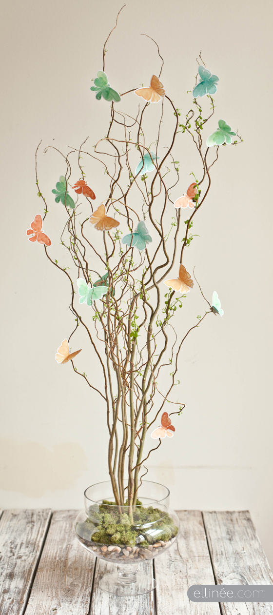 Twig and Butterfly Centerpiece