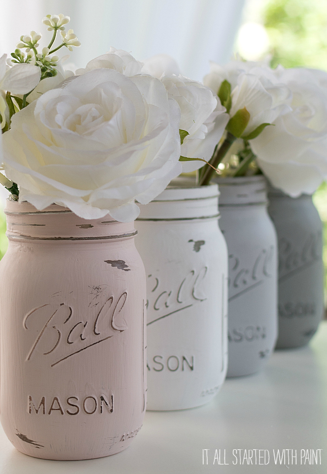 Unique Distressed Mason Jars