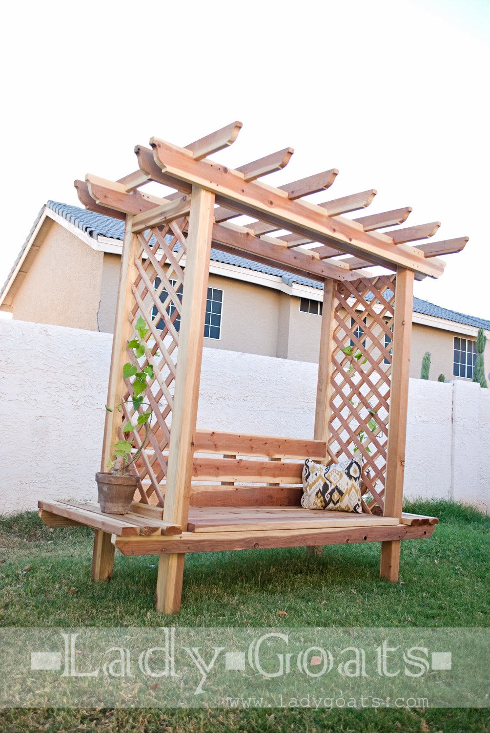 Bench and Arbor Combo