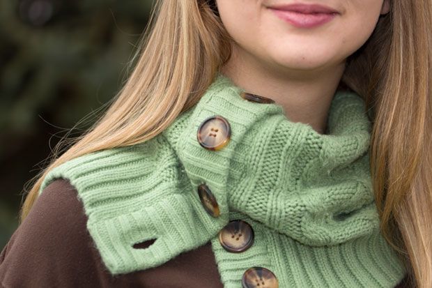 Cozy Cardigan Cowl and Boot Socks